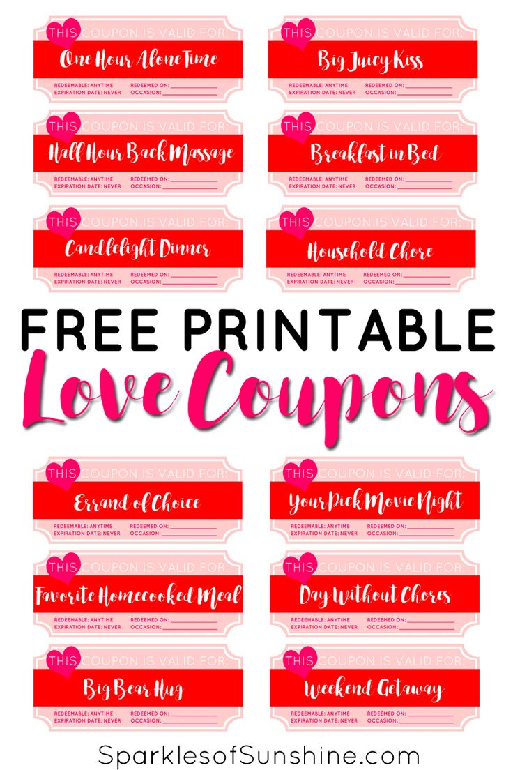 Love coupons for my wife
