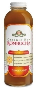 Organic Raw Kombucha Gingerade.