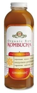 Organic Raw Kombucha Gingerade.