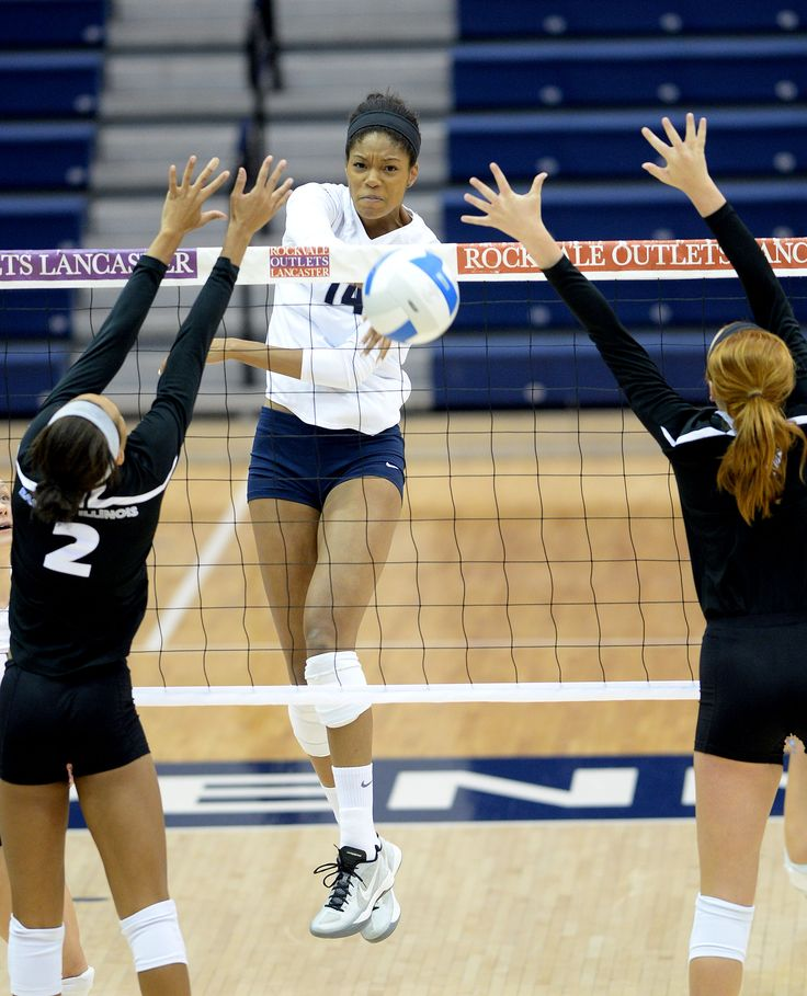 PENN STATE ATHLETICS Aiyana Whitney spikes the ball
