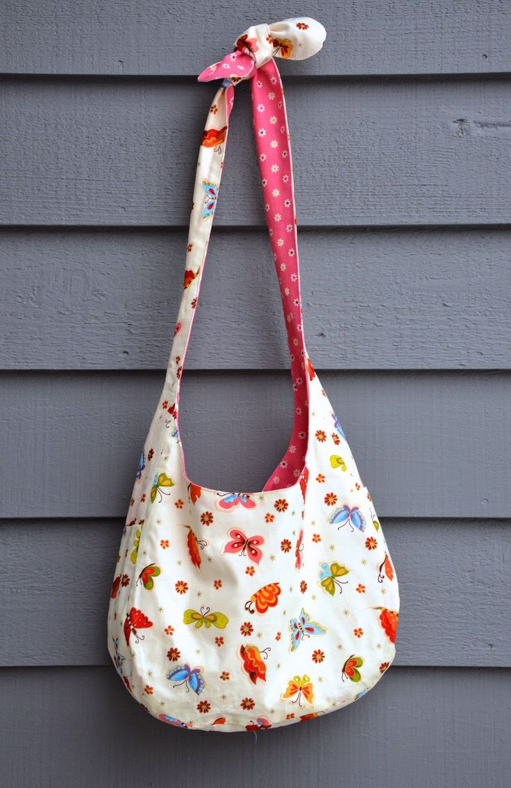 Very cute slouch bag pattern and tutorial from @lier