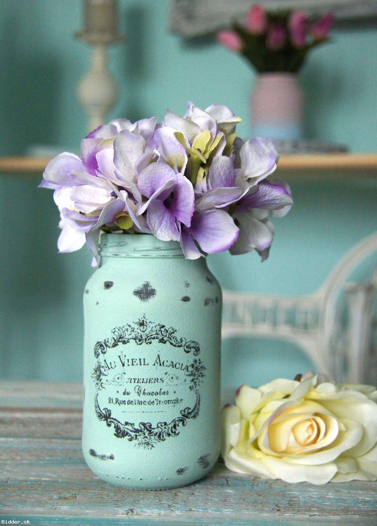 Zelená Vintage sklenená dekorácia, váza