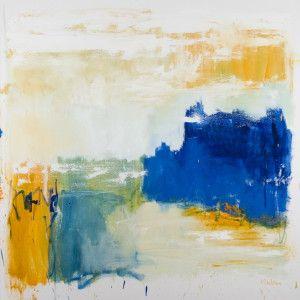 "Light on water 30"" x 30"" oil on canvas $1125 (framed) by Marlene Lowden"