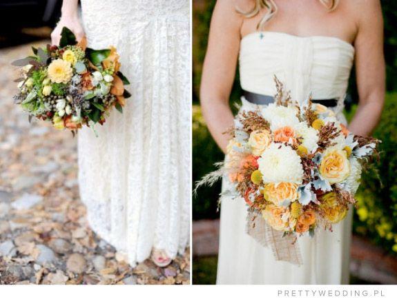 Przykłady bukietów ślubnych na jesień