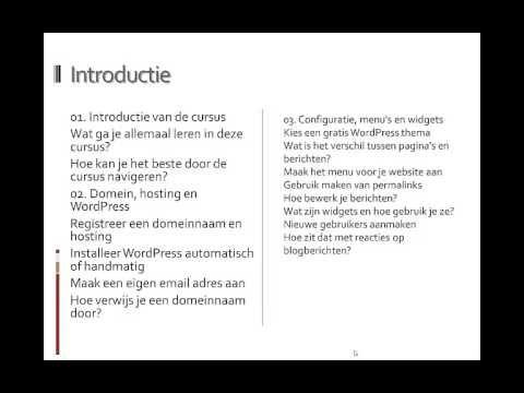 Cursus Wordpress Website maken Nederlands