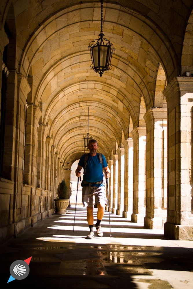 Last steps.  #CaminodeSantiago #SantiagodeCompostela #pilgrim photo made by Katarzyna Kędzierska
