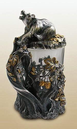 """Пивная кружка """"Медведь"""" http://olginia.com.ua/service/serebro/russkoe-serebro #подарки #столовое_серебро #серебро #vip_подарки #подарки_для_женщин #подарки_для_мужчин #киев  #купить"""