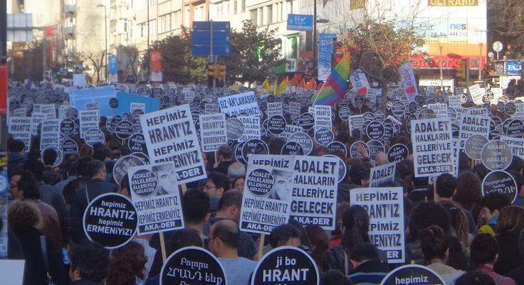 """Hrant Dink Katledilişinin 7. Yıldönümünde Anıldı: """"Hrant Devlet Dersinde Katledildi"""" http://www.baskahaber.org/2014/01/hrant-dink-katledilisinin-7-yldonumunde.html"""