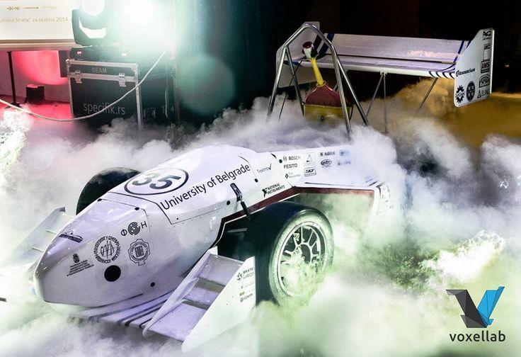 Drumska Strela 2014 Mašinskog Fakulteta! Novi bolid za takmičarsku sezonu osnažen Voxellab 3D printom.