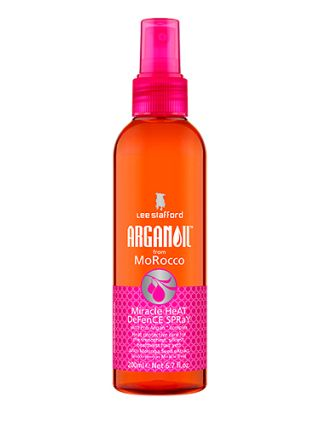 LEE STAFFORD ARGAN OIL HEAT DEFENCE SPRAY This product is great because you get a huge amount with each pump meaning you hardly have to use more than a few sprays each time. The argan oil smells lovely and leaves your straightened locks feeling light and soft. Plus the use of Moringa Seed Extract helps to keep your hair clean as it encourages a natural shine so your hair truly glows.  Score: 10/10