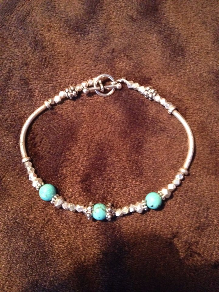 Sterling silver an turquoise bracelet