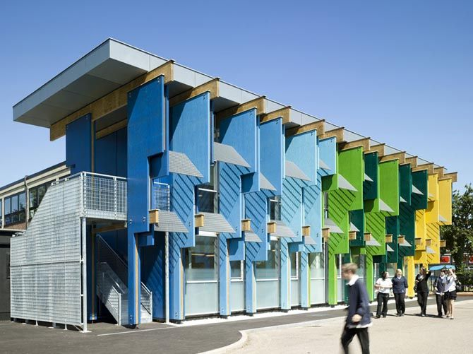Colorful Longford School Library And Sports Centre Block Architecture    Dream House Architecture Design, Home