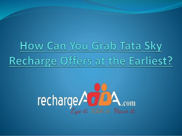 Tata Sky, with its satellite television service, aims to provide world class television viewing experience to its customers. Get the recharge done from the comfort of your house and keep on enjoying your favorite movies and TV shows.