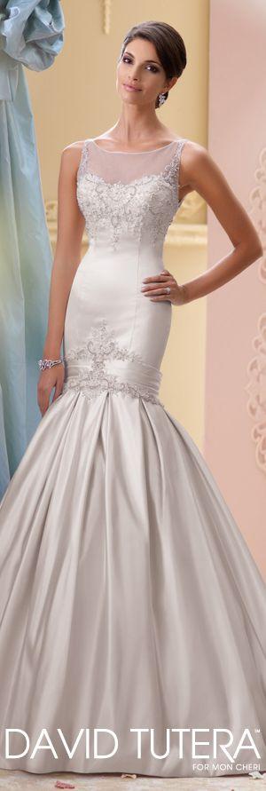 The David Tutera for Mon Cheri Spring 2015 Wedding Dress Collection - Style No. 115231 India   davidtuteraformoncheri.com  #weddingdresses