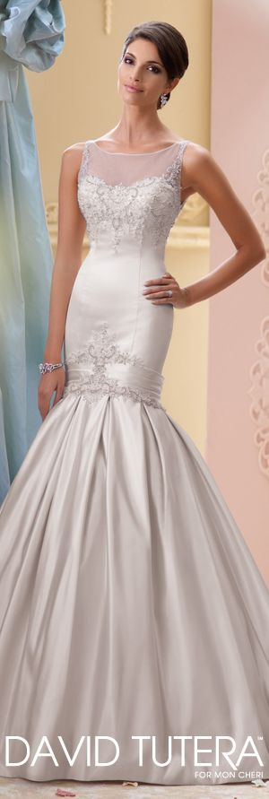 The David Tutera for Mon Cheri Spring 2015 Wedding Dress Collection - Style No. 115231 India   davidtuteraformoncheri.com  #weddingdresses
