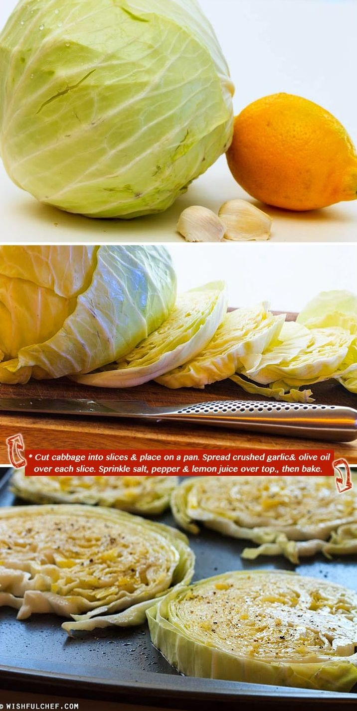 Roasted cabbage! I made this and it was delish! We always love cabbage but this was a great new way to cook it! We loved it!