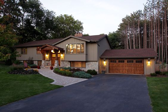 modern contemporary homes | split level remodel. traditional exterior by Knight Construction ...