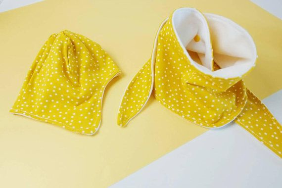 Check out this item in my Etsy shop https://www.etsy.com/uk/listing/565438489/hat-and-scarf-set-yellowfleece-linedear