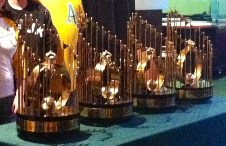 Count 'em FOUR World Series Championships. That's our Oakland A's. Extremely sexy & cool.