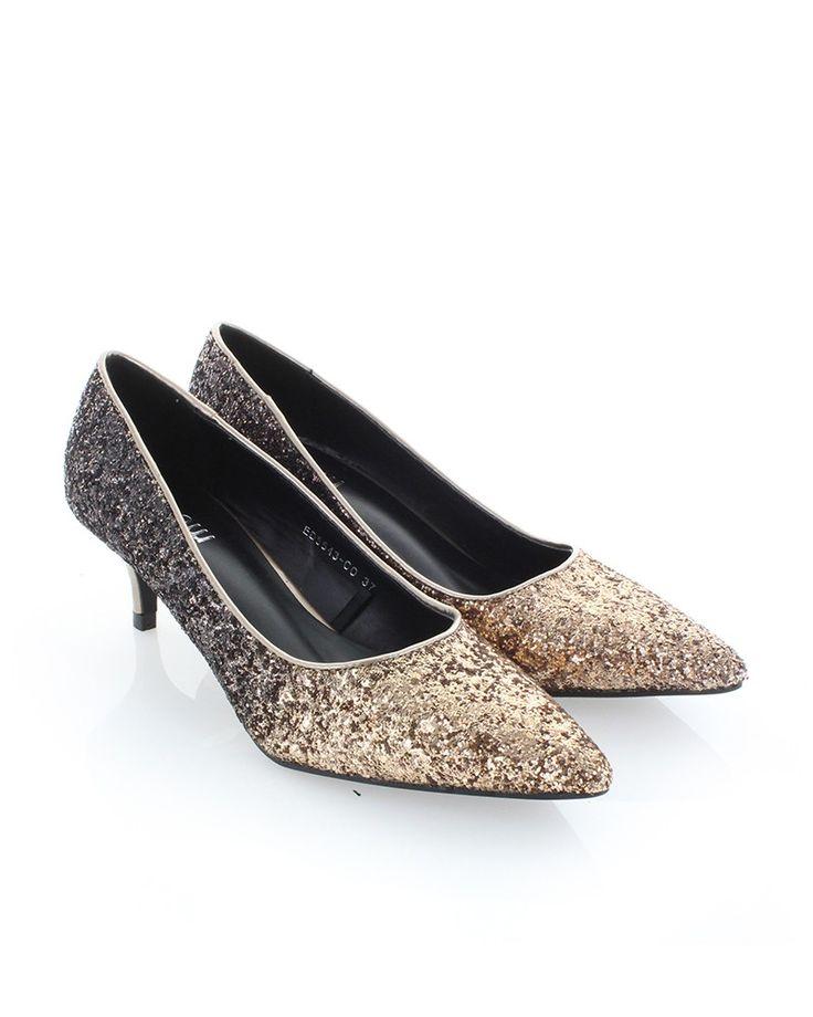 Bézs-fekete magassarkú Blingee - Női cipők | Cipofalva.hu