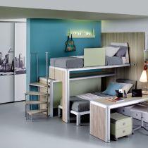 Oltre 20 migliori idee su scrivania per letto a castello - Camerette con pedana ...