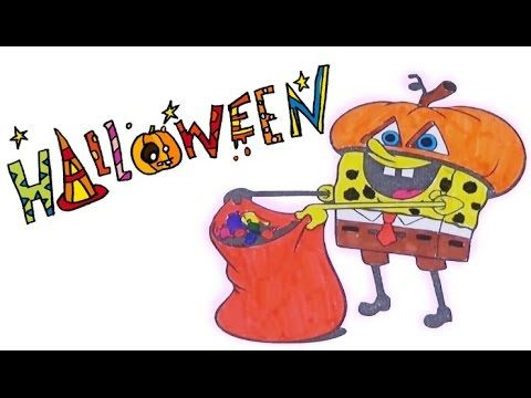 Pi n' Mo: Coloring Pages For Kids With Spongebob Squarepants Pumpkin Col...