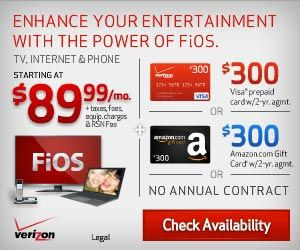 Great price! FiOS Double Play starting at $69.99/mo. w/no term contract. Includes wireless router plus no activation fee.