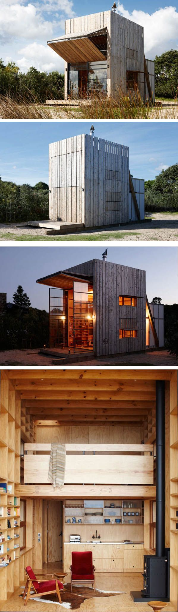 Operable, reactionary, timber, simple, pre-fab.