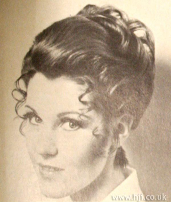 1969 brunette updo hairstyle - Hairstyle Gallery