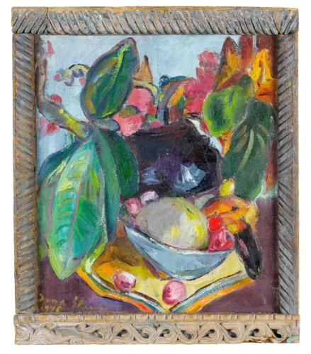 Still Life with Leaves, Fruit and Flowers - Irma Stern
