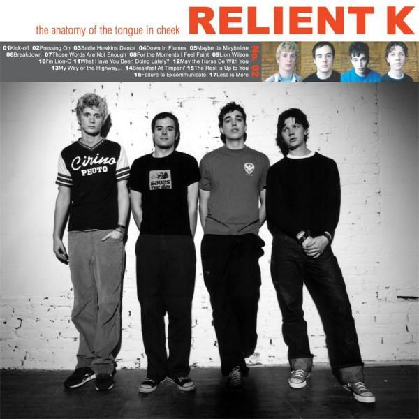"""$25 Relient K """"Anatomy of the Tongue In Cheek"""" (2xLP Vinyl) Vinyl-Standard Weight Vinyl Color-Clear Package-Gatefold Jacket with Insert Pressing Amount-  Track"""