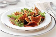 Salade met gerookte eendenborstfilet en vijgen - Kerstrecept Voorgerecht