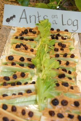 Ants on a log for bug party#Repin By:Pinterest++ for iPad#