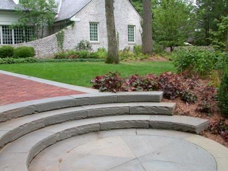 Circular Bluestone Stairs