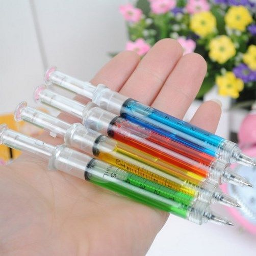 120 Syringe Needle Shaped Pens - Hospital Nurse Doctor Dentist - Ball Point Pen