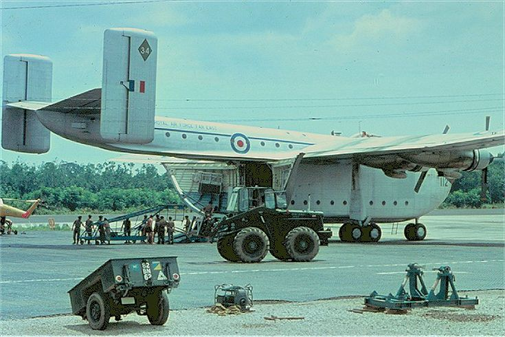 RAF Blackburn Beverley C1 in Malaysia during the 1960's