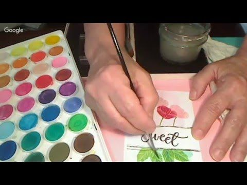 Stamped Poppies & Water Coloring Plus a How-to Video | MaryGunnFunn.com