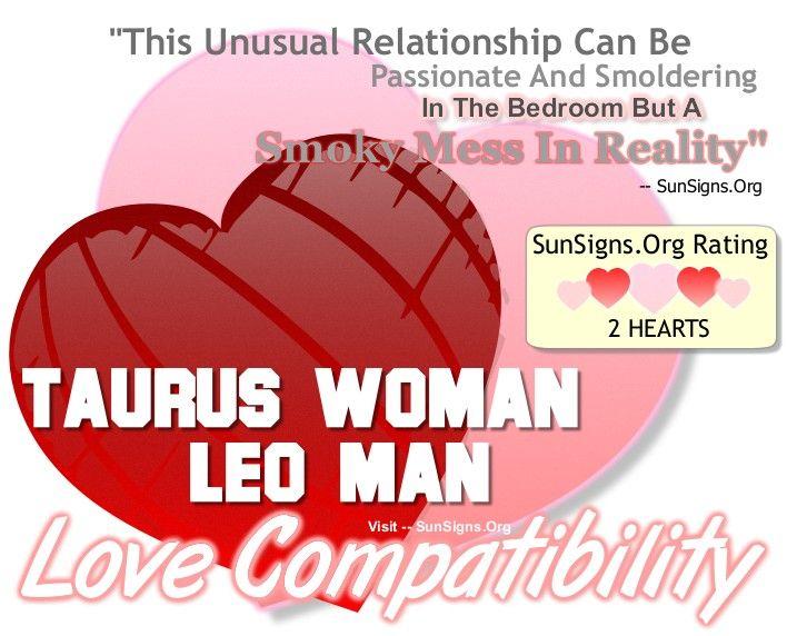 Taurus woman and leo man love match