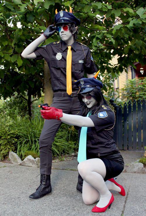 Homestuck Trollcops cosplay - Terezi Pyrope & Sollux ...