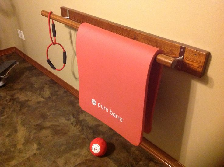 My husband made me my very own Pure Barre, thank you, I luv it!