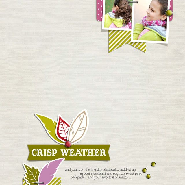 Crisp Weather digital layout by Betsy Sammarco featuring the Carta Bella A Perfect Autumn kit available at www.snapclicksupply.com #digitalscrapobooking #fall