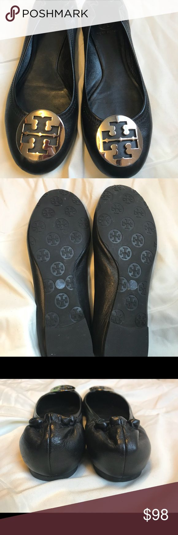 Tory Burch ballet flats Tory Burch genuine leather ballet flats size 9 Good  condition but a