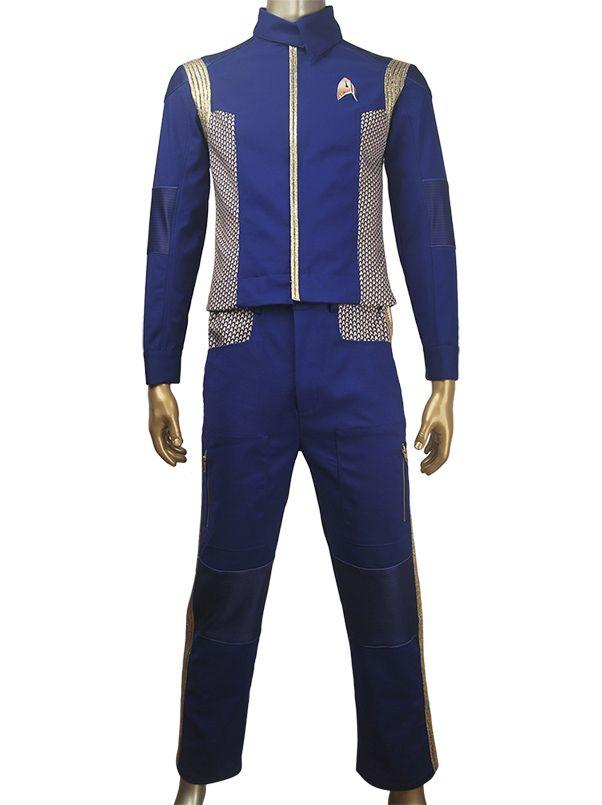 Unisex CBS TV Star Trek: Discovery Michael Burnham Starfleet uniform outfit full set halloween cosplay make-up costume xmas birthday valentine's gift