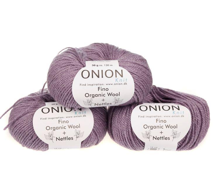 Lys lilla V807 - No. 4 - Fin økologisk uld med nældefibre - Onion - Strikkepinden - Nøgler á 50 gram