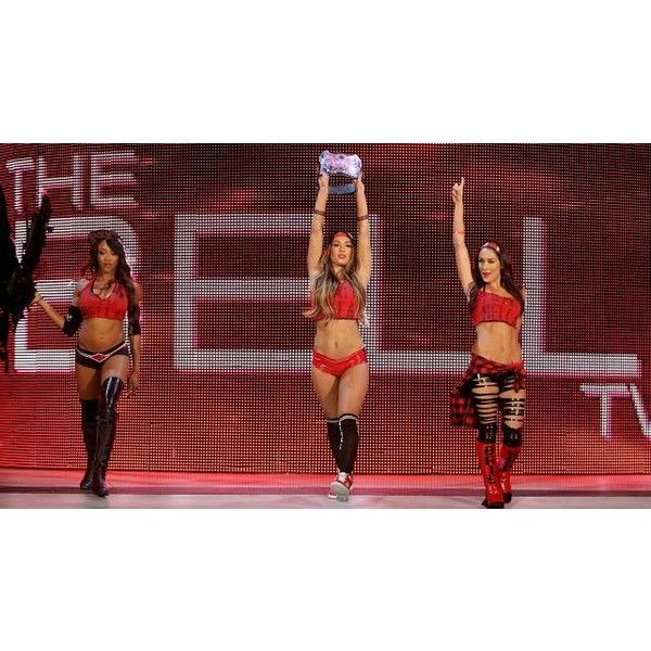 NXT Divas emerge to challenge Team Bella photos ❤ liked on Polyvore featuring wwe and the bella twins