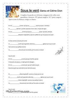 Une activité très utile pour pratiquer les conjugaisons des verbes au présent simple, passé composé et impératif. Après avoir complété les paroles les élèves répondent aux 19 questions sur l'amour. - Fiches FLE