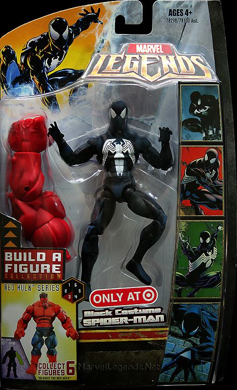 Marvel Legends Red Hulk Series Black Costume Spider-Man