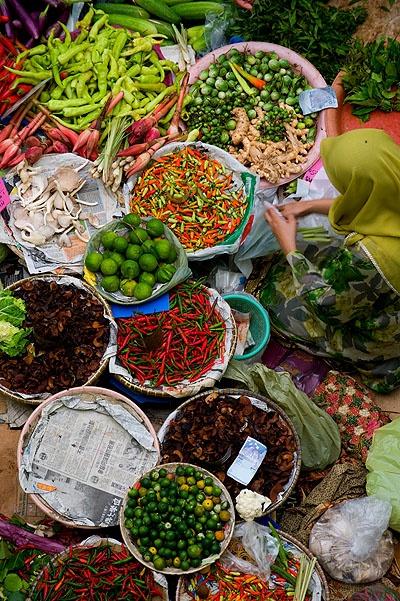Kota Bharu's central market (Malaysia). Photo by Austin Bush Photography.