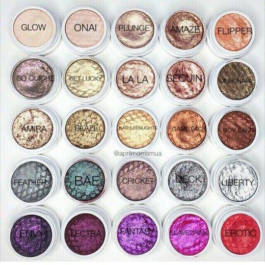 colourpop eyeshadow pigments