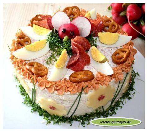 Pikante Landbrot - Torte! Wer es gerne herzhaft und deftig mag – diese Brottorte schmeckt absolut lecker! Ein toller Partyhingucker!